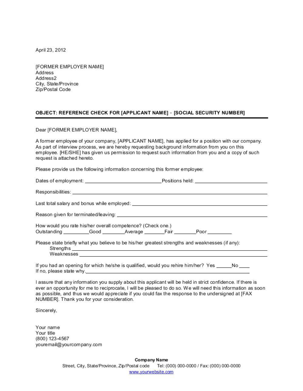 009 Wonderful Letter Of Reference Template High Definition  Pdf For Student Volunteer TeacherFull