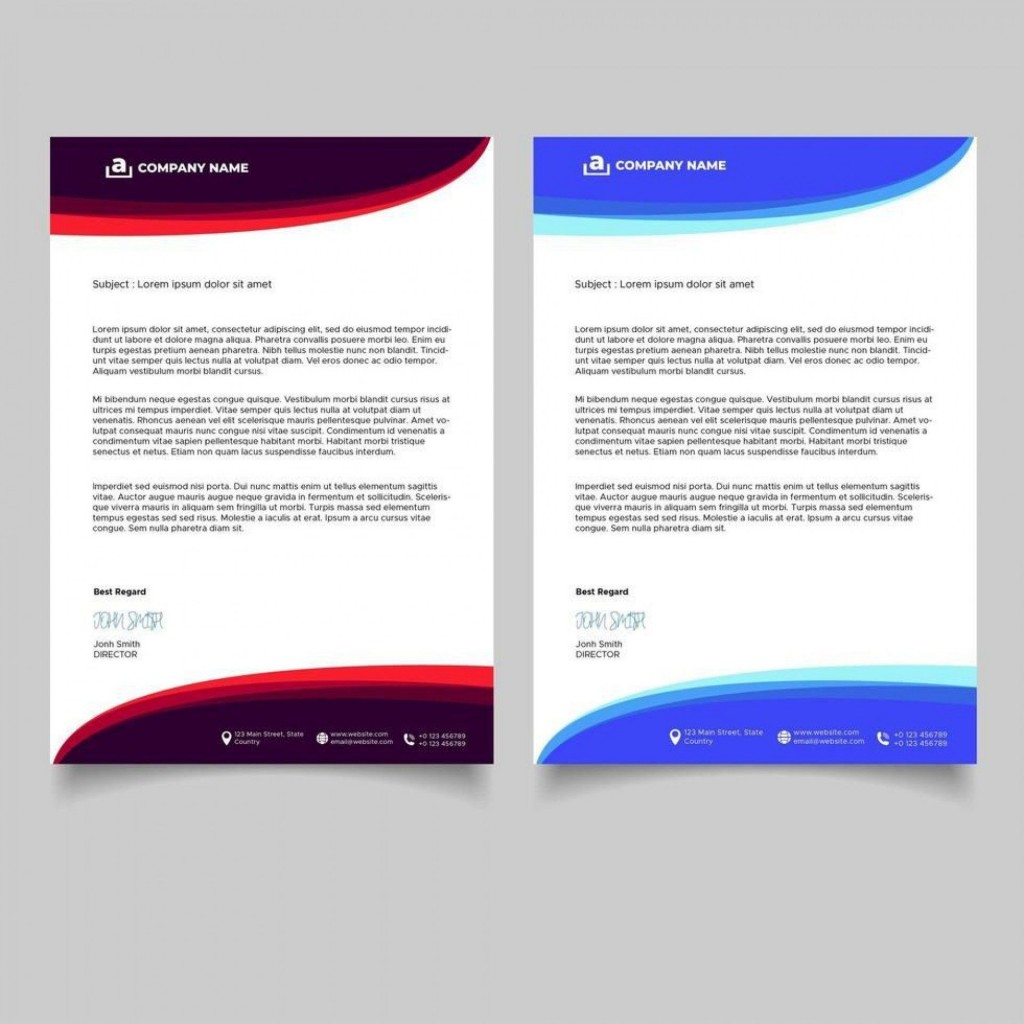 009 Wonderful Letterhead Template Free Download Ai Design  FileLarge