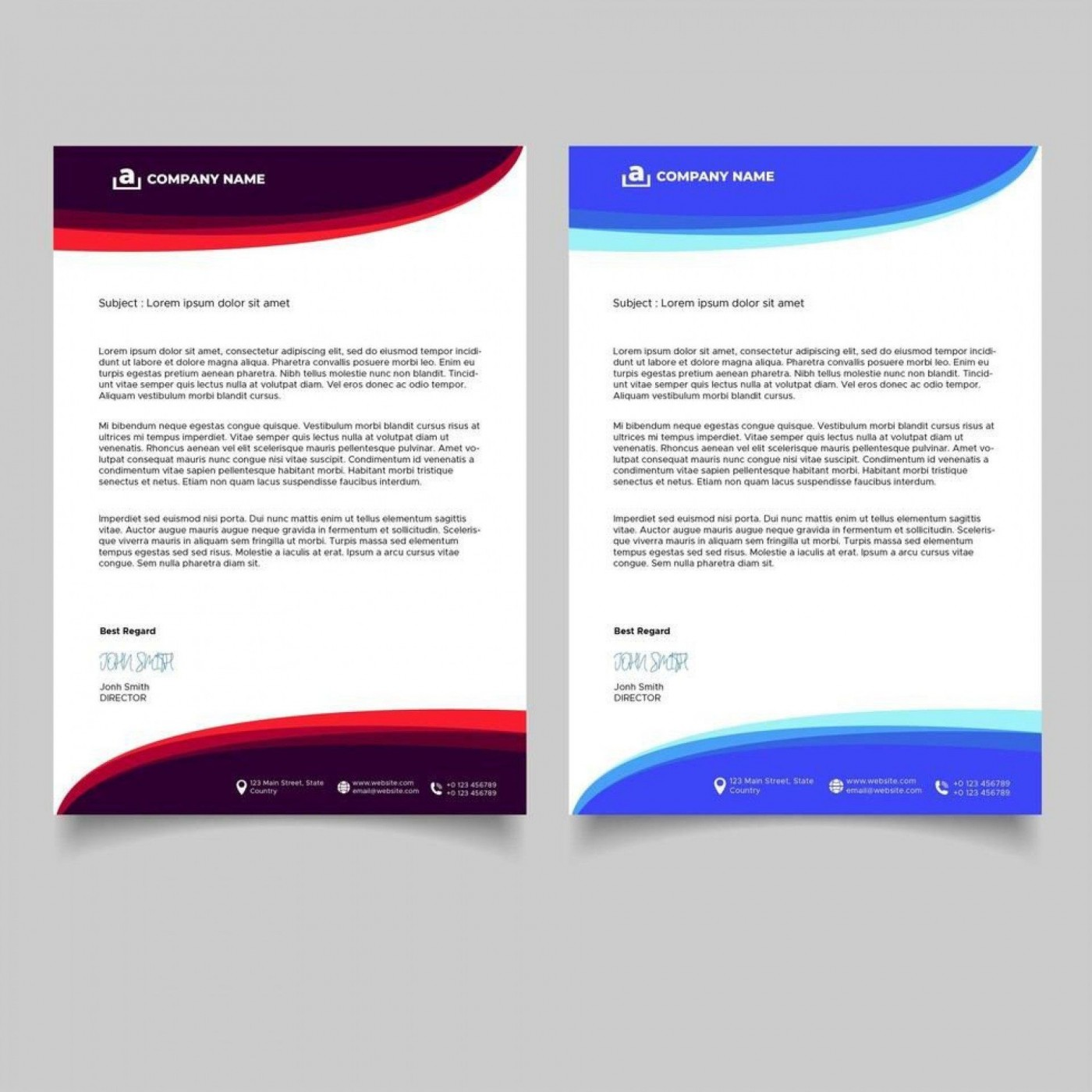 009 Wonderful Letterhead Template Free Download Ai Design  File1400