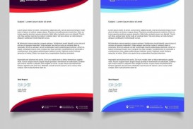 009 Wonderful Letterhead Template Free Download Ai Design  File