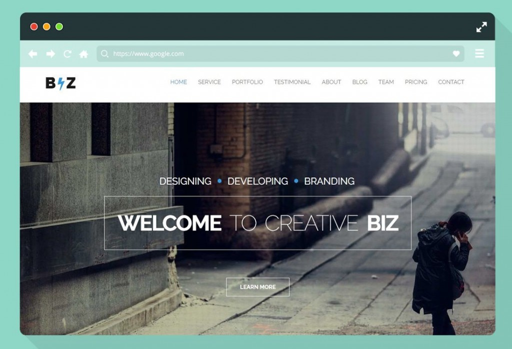 009 Wonderful One Page Website Template Free Download Html Design  Simple With Cs ResponsiveLarge