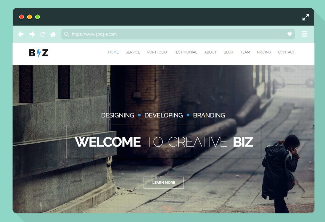 009 Wonderful One Page Website Template Free Download Html Design  Simple With Cs ResponsiveFull