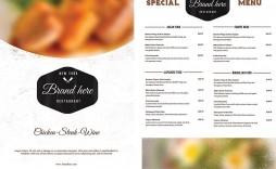 009 Wonderful Restaurant Menu Template Free Download Highest Quality