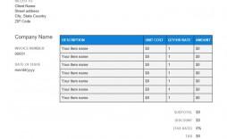 009 Wonderful Self Employed Invoice Template Google Doc High Definition  Docs