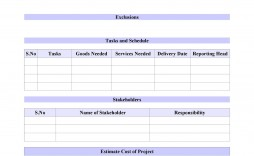 009 Wonderful Simple Project Scope Template Highest Clarity  Document Free Statement