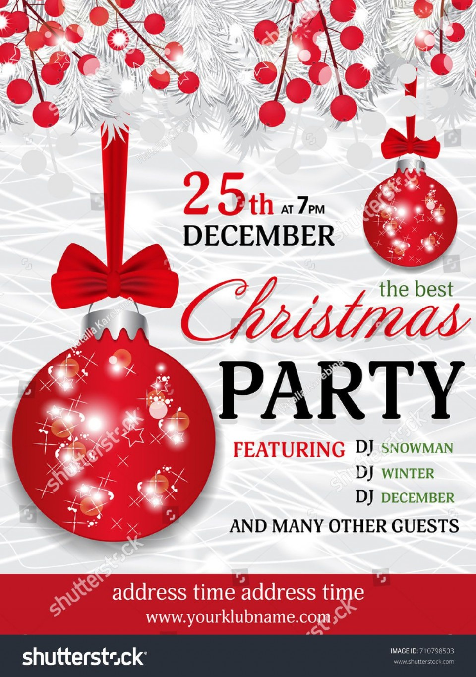 009 Wondrou Christma Party Invitation Template Design  Holiday Download Free Psd960