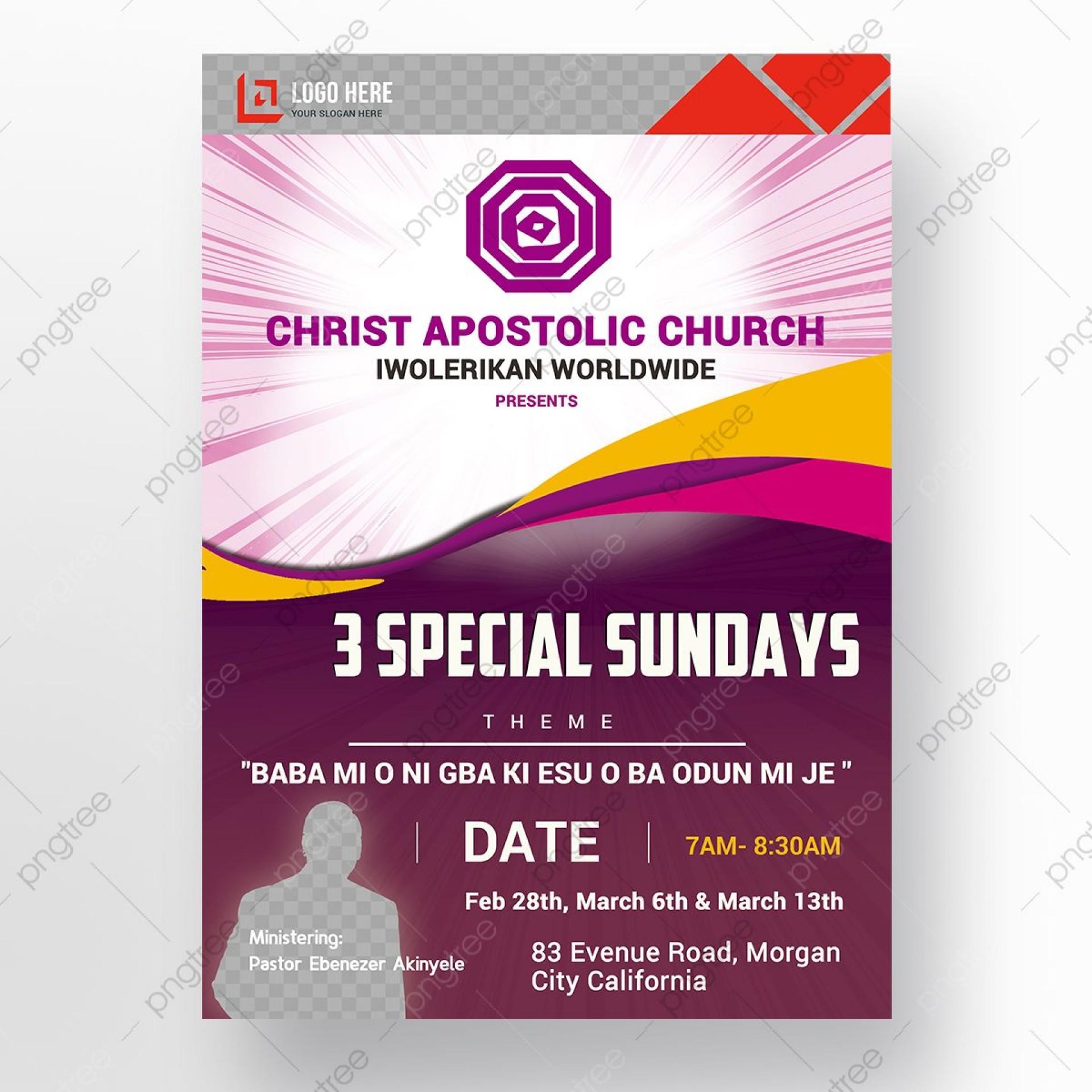 009 Wondrou Church Flyer Template Photoshop Free Picture  Psd1920