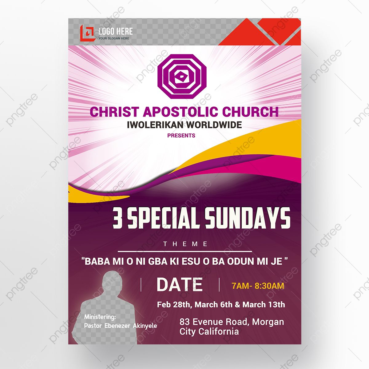 009 Wondrou Church Flyer Template Photoshop Free Picture  PsdFull