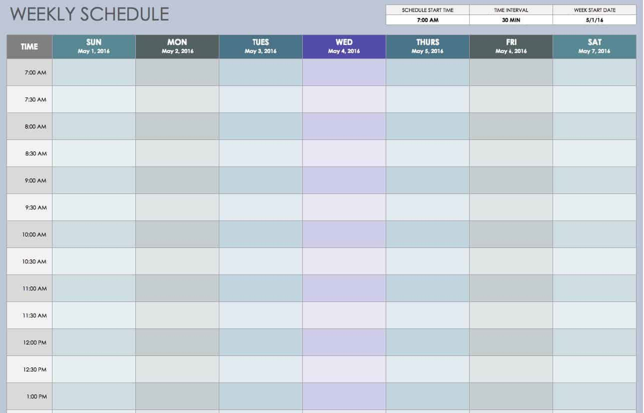 009 Wondrou Excel Work Planner Template Idea  Microsoft Monthly Schedule Plan SchedulingFull