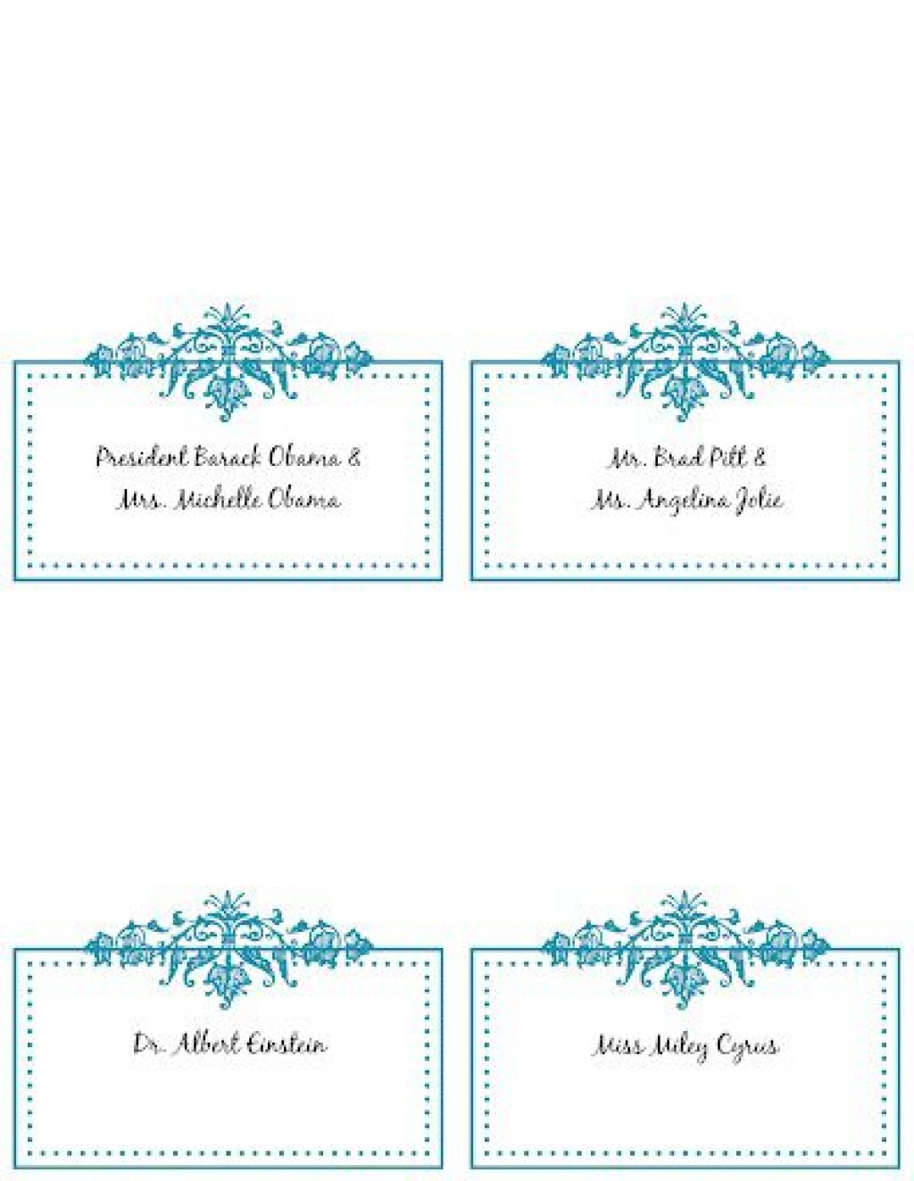 009 Wondrou Name Place Card Template Picture  Word Free MicrosoftLarge