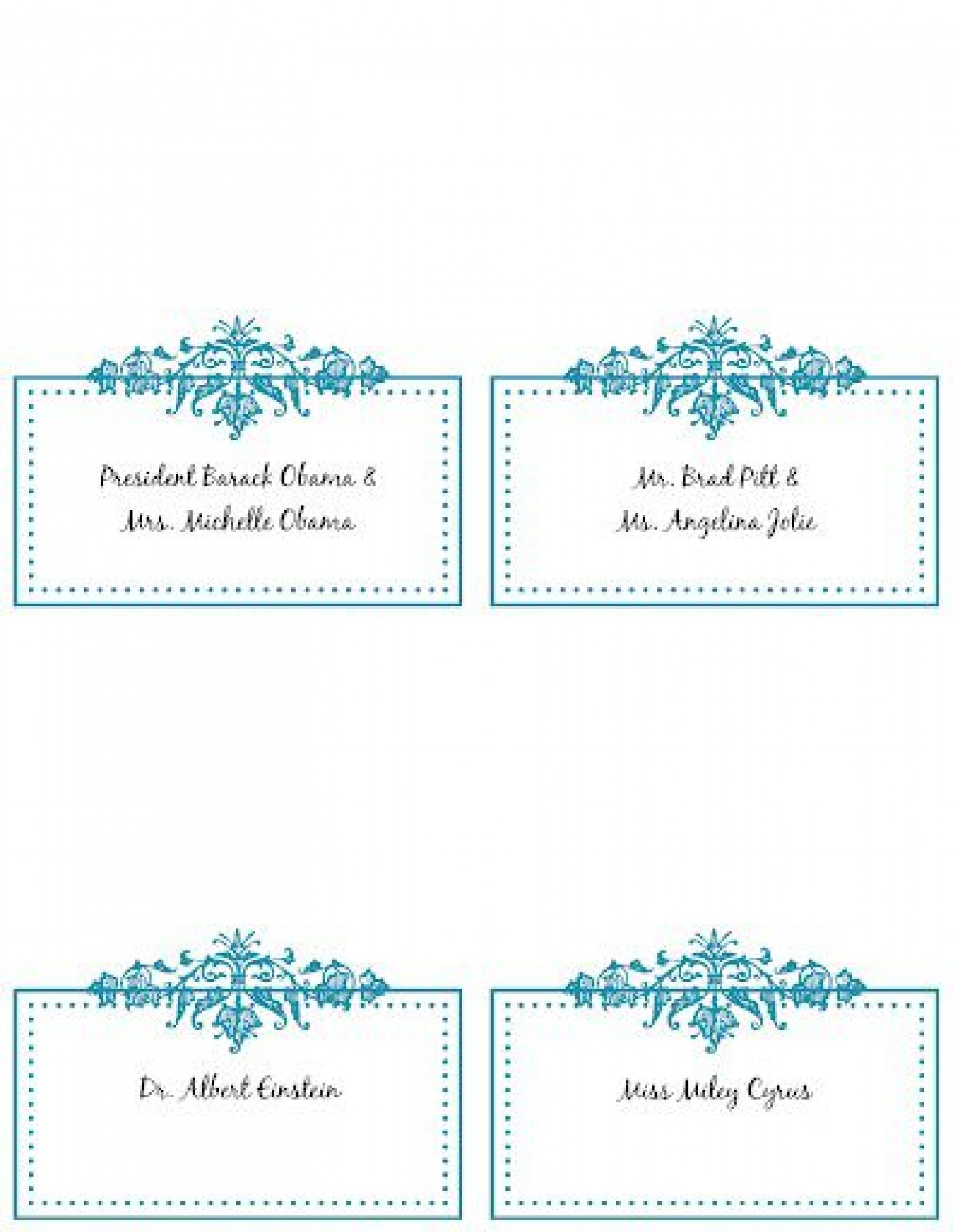 009 Wondrou Name Place Card Template Picture  Free Word Publisher Wedding1400