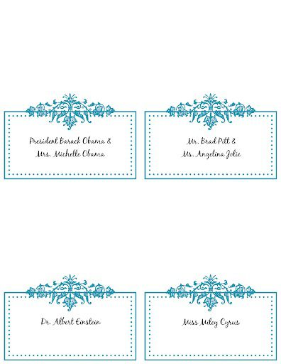 009 Wondrou Name Place Card Template Picture  Word Free MicrosoftFull