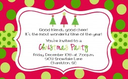 009 Wondrou Office Christma Party Invitation Wording Sample  Samples Holiday Example