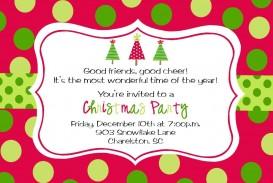 009 Wondrou Office Christma Party Invitation Wording Sample  Holiday Example