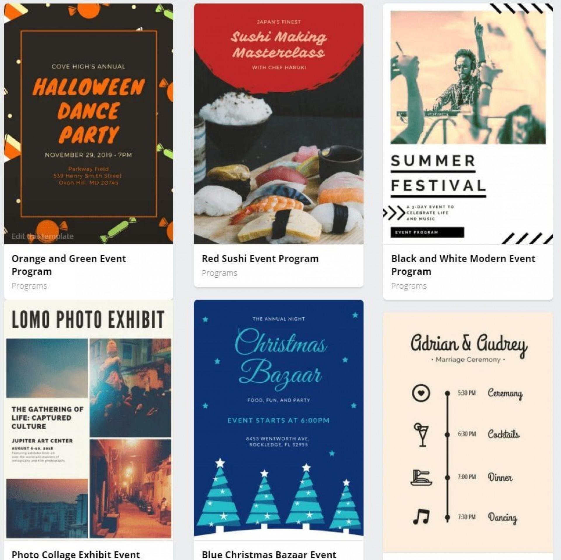 009 Wondrou Printable Event Program Template Concept  Free Download1920