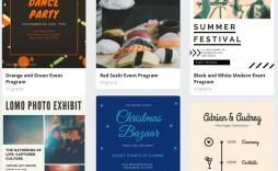 009 Wondrou Printable Event Program Template Concept  Free Download