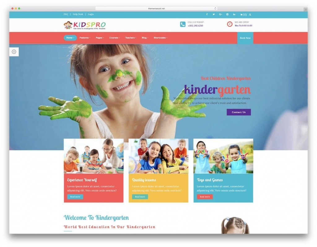 009 Wondrou School Website Html Template Free Download Idea  Responsive With Cs JqueryLarge