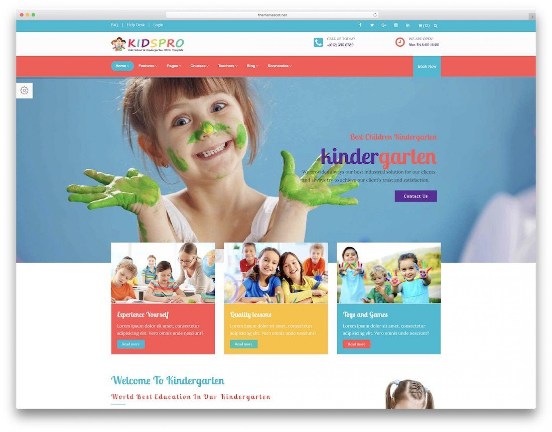 009 Wondrou School Website Html Template Free Download Idea  Responsive With Cs Jquery1920