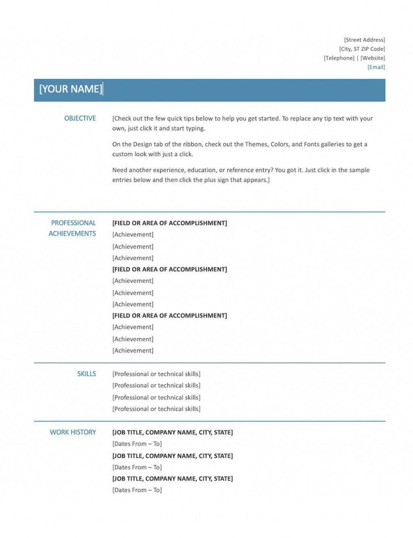 009 Wondrou Skill Based Resume Template Word Idea  MicrosoftLarge