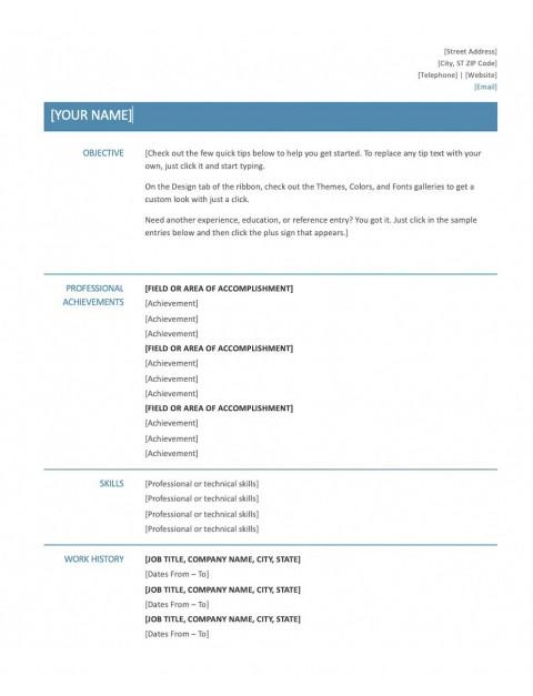 009 Wondrou Skill Based Resume Template Word Idea  Microsoft480