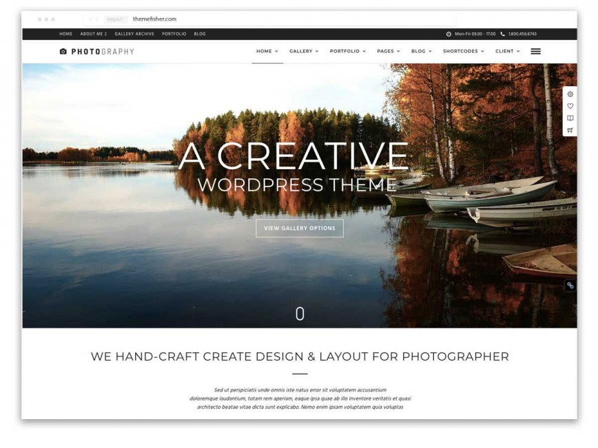 009 Wondrou Website Template For Photographer Photo  Photographers Single Page Photography Best