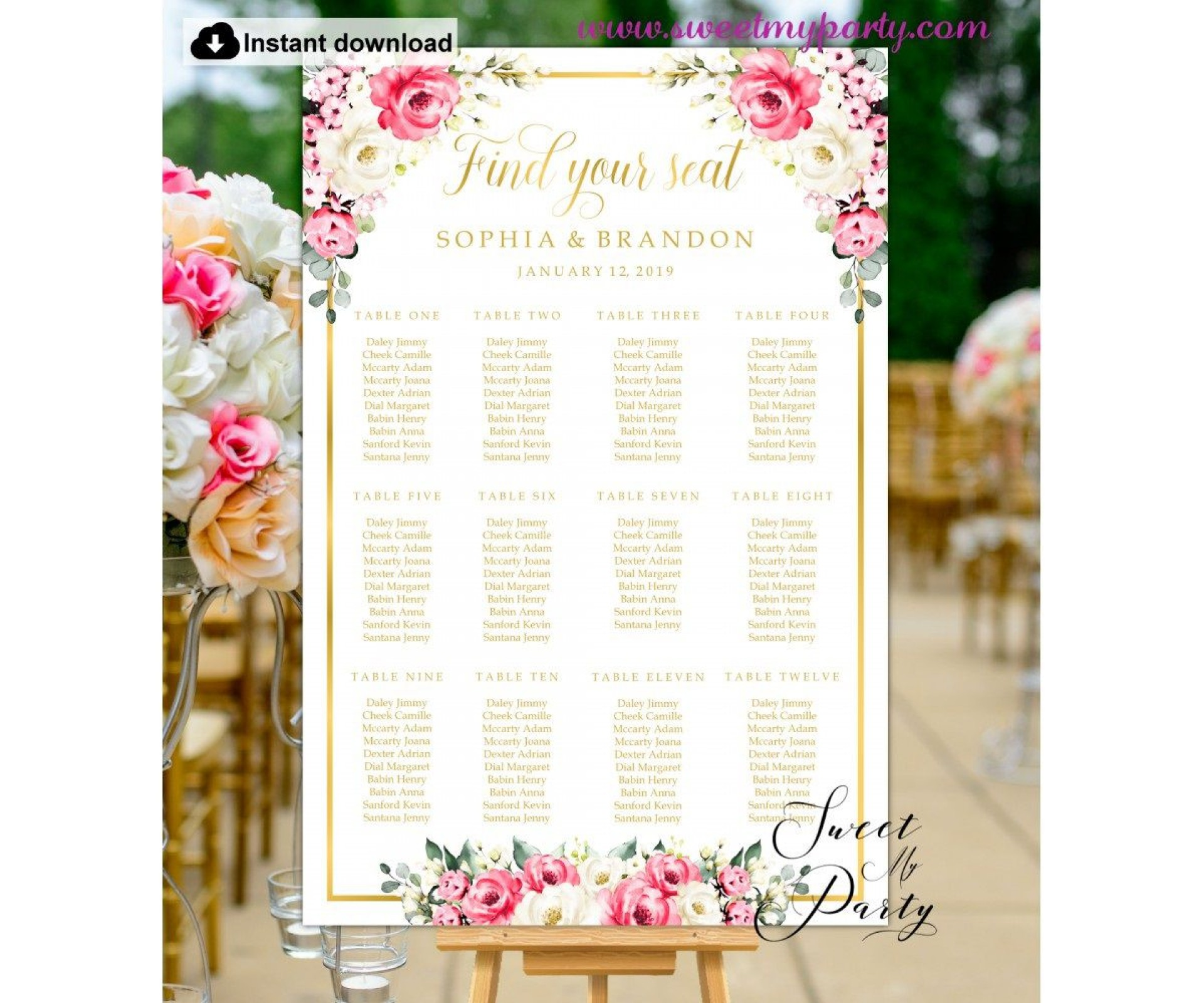 009 Wondrou Wedding Seating Chart Template Sample  Templates Plan Excel Word Microsoft1920