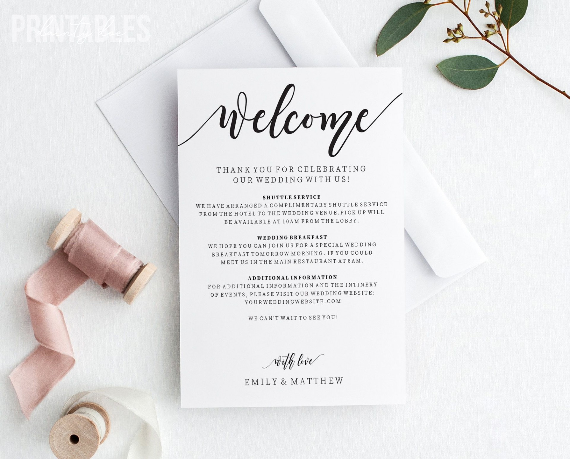 009 Wondrou Wedding Welcome Letter Template Word Inspiration 1920