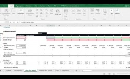 010 Amazing Cash Flow Template Excel Free Idea  Statement Download Monthly Forecast Personal