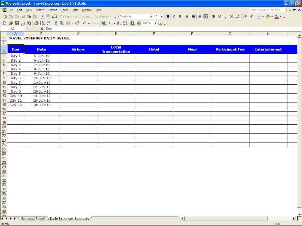 010 Amazing Excel Busines Travel Expense Template Inspiration Large