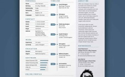 010 Amazing Free One Page Resume Template Design  Word Download 2018 Best