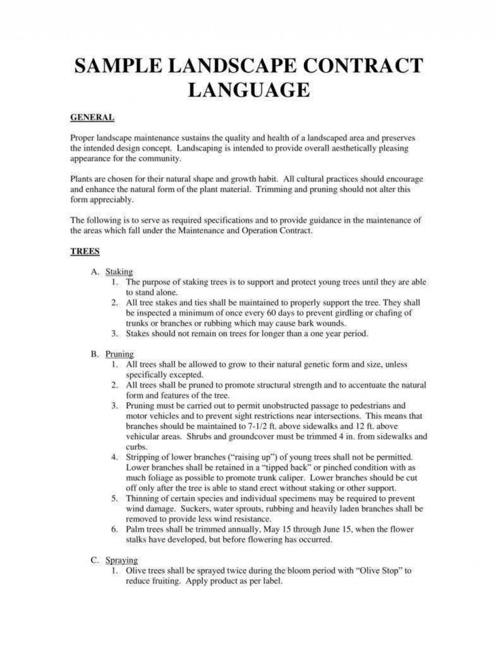 010 Amazing Snow Removal Contract Word Doc High Def Large