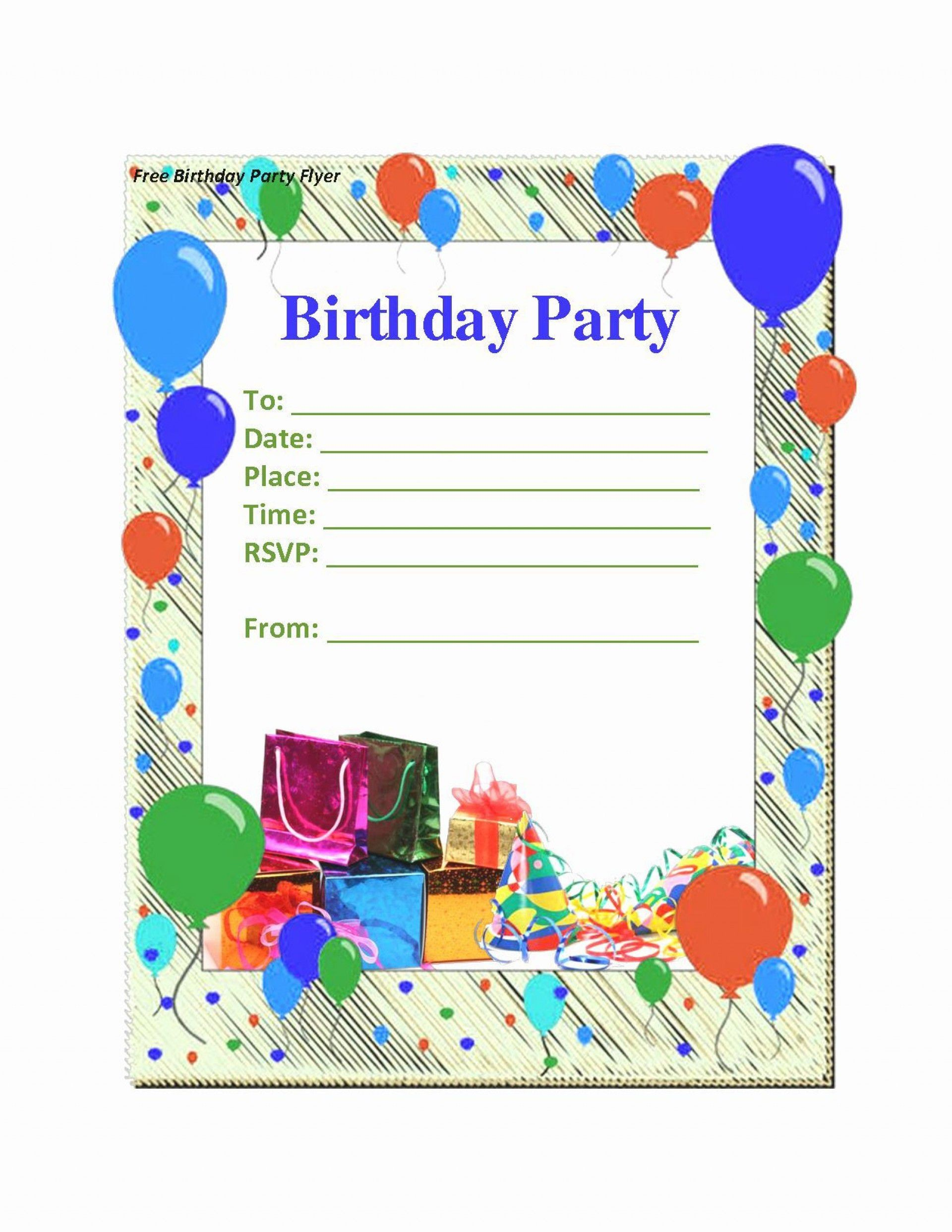 Microsoft Word Birthday Card Invitation Template Addictionary