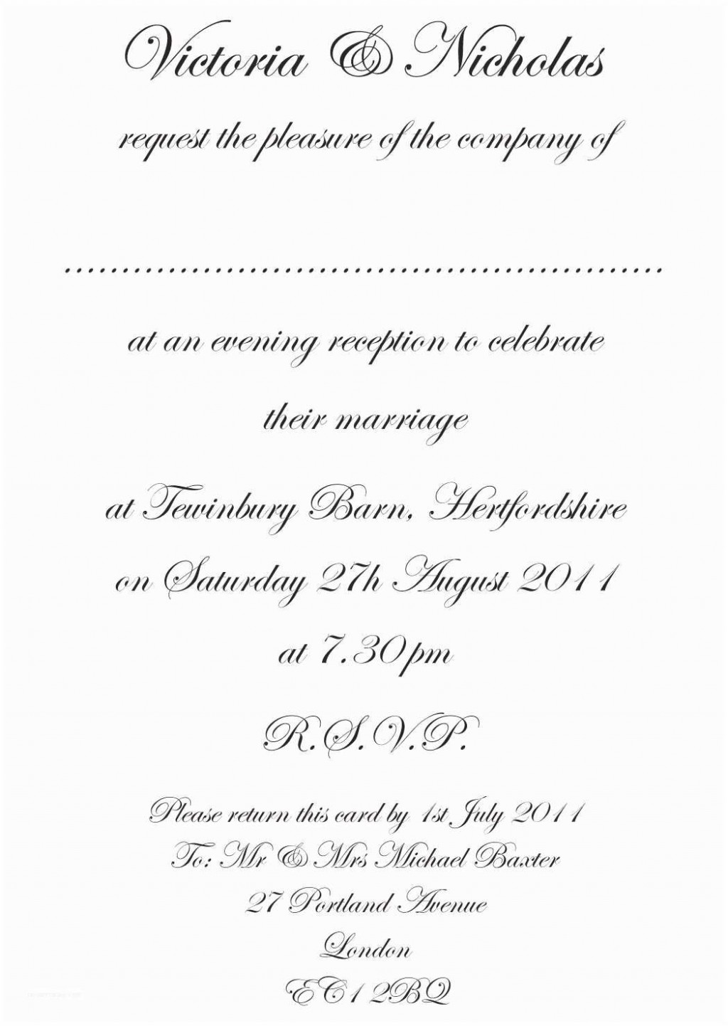 010 Astounding Formal Wedding Invitation Template Highest Quality  Templates Email Format Wording FreeLarge