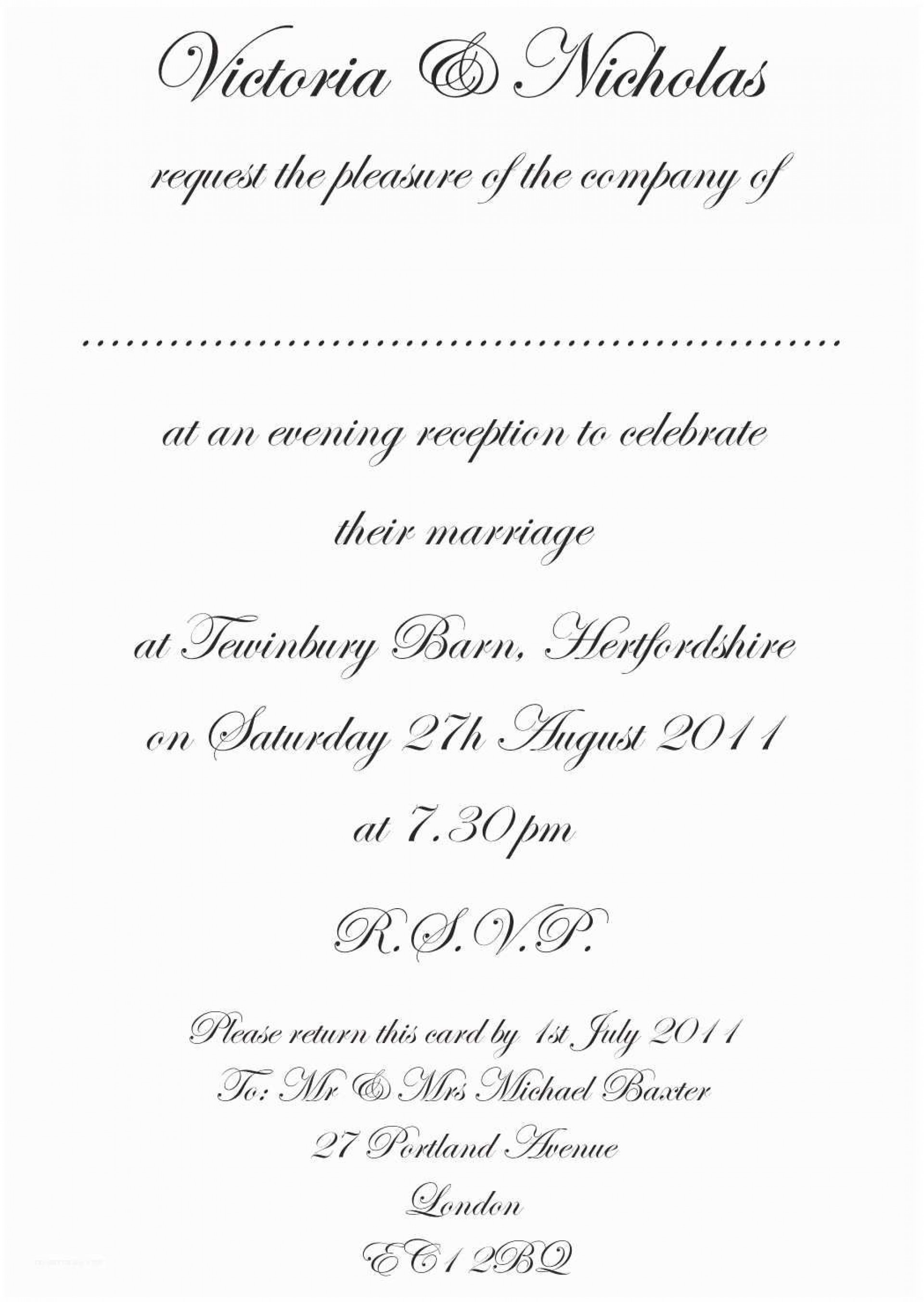 010 Astounding Formal Wedding Invitation Template Highest Quality  Templates Email Format Wording Free1920