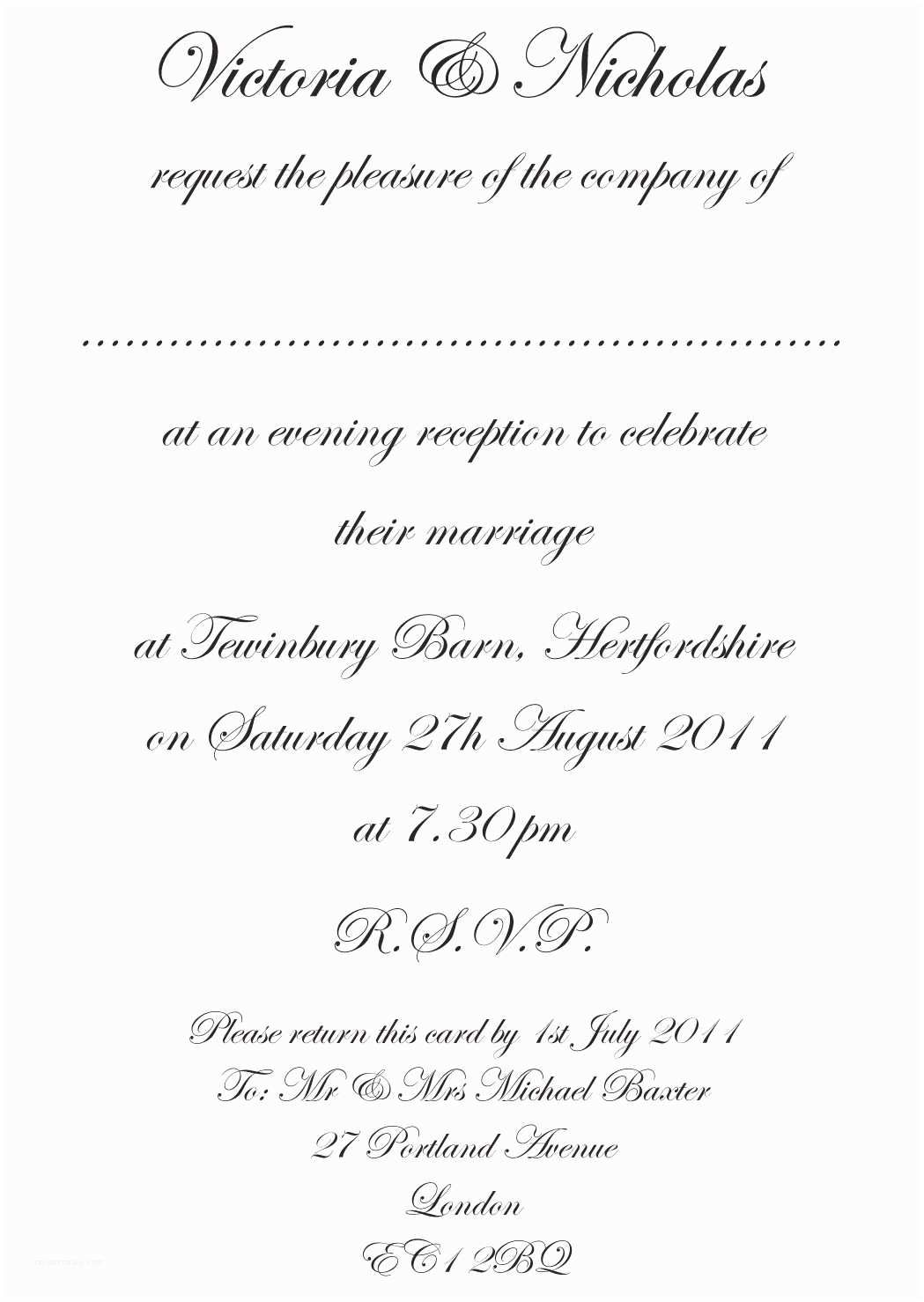 010 Astounding Formal Wedding Invitation Template Highest Quality  Templates Email Format Wording FreeFull
