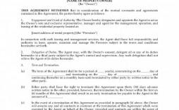 010 Astounding Property Management Contract Template Ontario Design