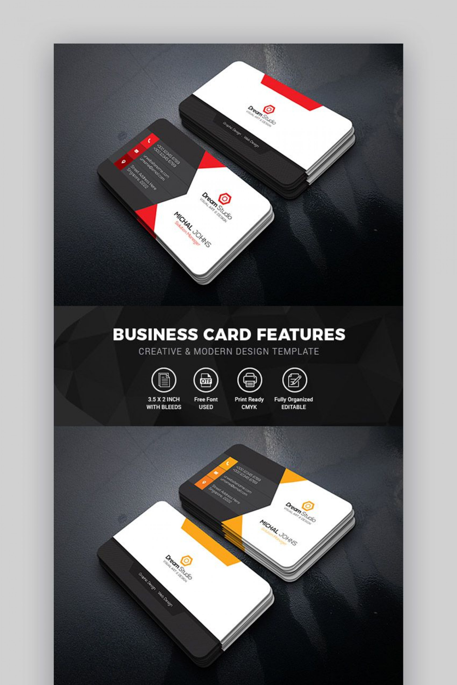 010 Awesome Blank Busines Card Template Psd Free Download Idea  Photoshop1920