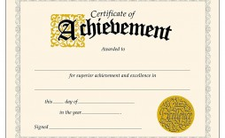 010 Awesome Certificate Of Achievement Template Free High Resolution  Award Download Word