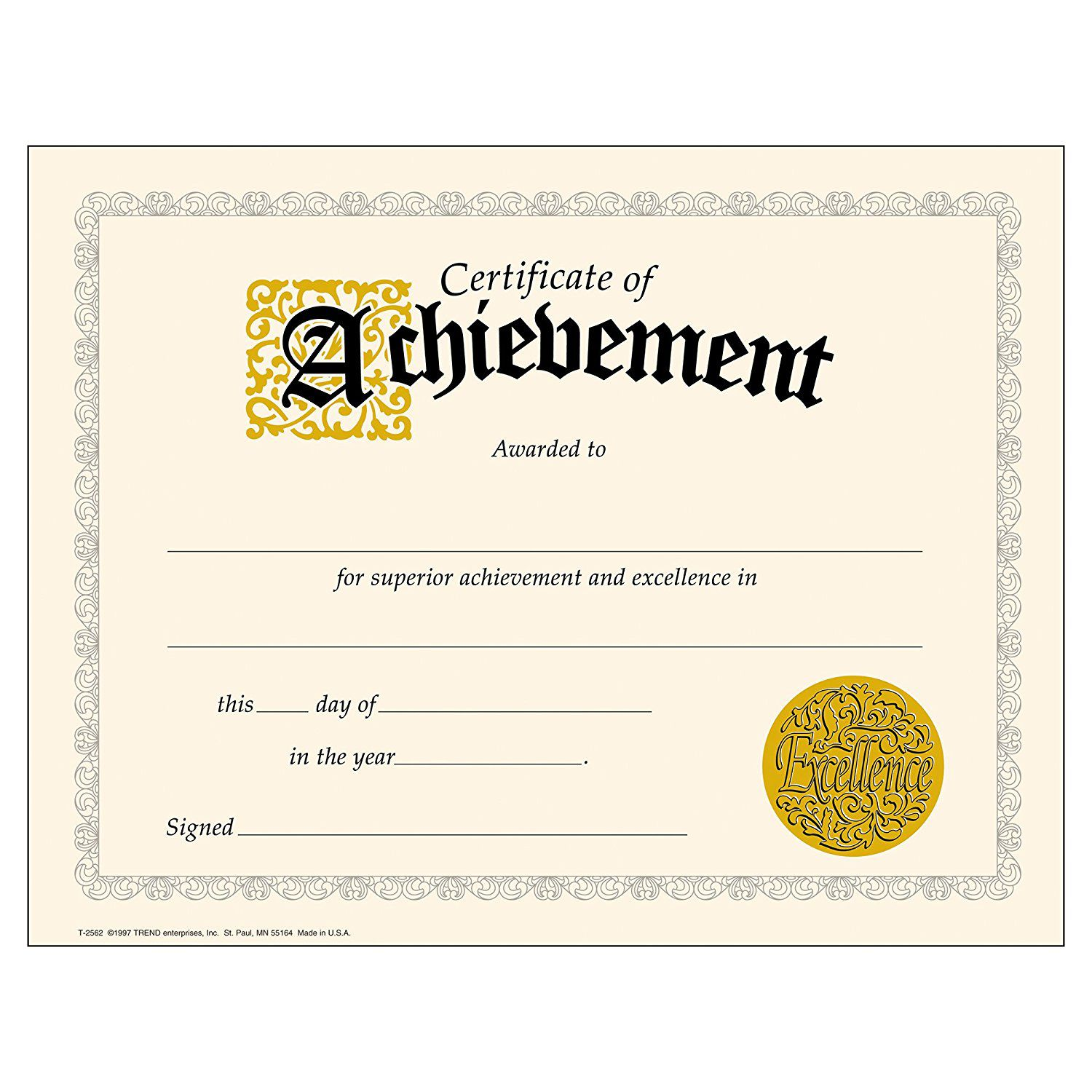 010 Awesome Certificate Of Achievement Template Free High Resolution  Award Download WordFull