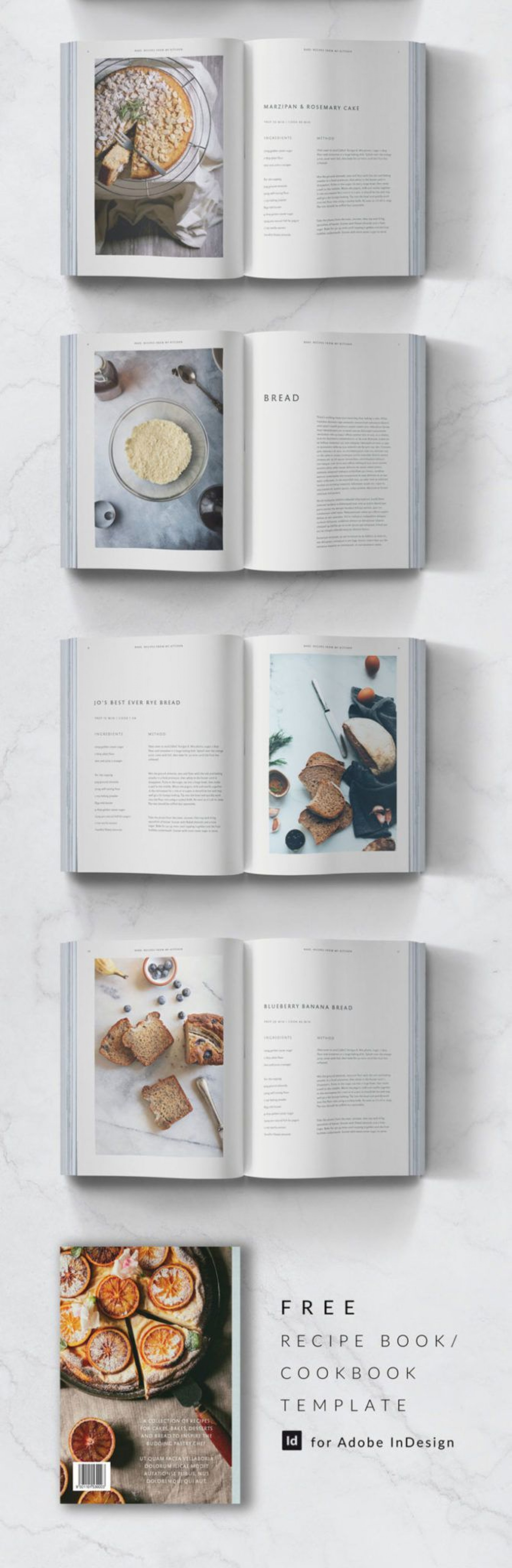 010 Awesome Free Recipe Book Template Example  Editable Cookbook For Microsoft Word Indesign1920