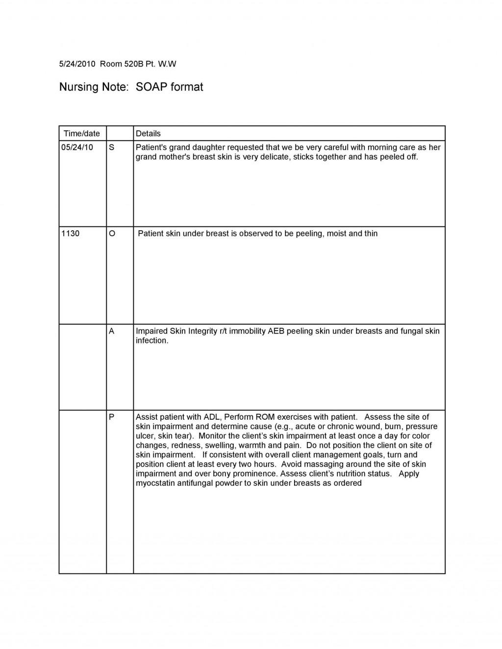 010 Awful Nursing School Note Taking Template Sample Large