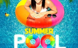 010 Awful Pool Party Flyer Template Free Concept  Photoshop Psd