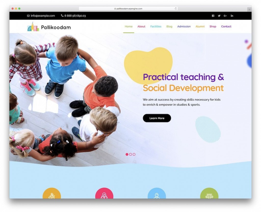 010 Awful School Website Html Template Free Download Image  Responsive With Cs JqueryLarge