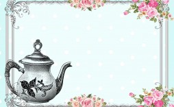 010 Awful Tea Party Invitation Template Idea  Online Letter