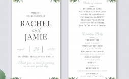 010 Awful Wedding Order Of Service Template Free Picture  Uk Church Download