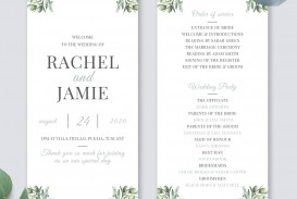 010 Awful Wedding Order Of Service Template Free Picture  Front Cover Download Church