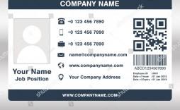 010 Beautiful Employee Id Card Template Idea  Free Download Psd Word