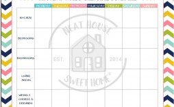 010 Beautiful Weekly Cleaning Schedule Format High Def  Template Free Sample