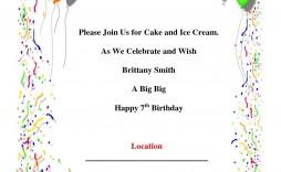 010 Best Birthday Invitation Card Word Format High Def  Template Free