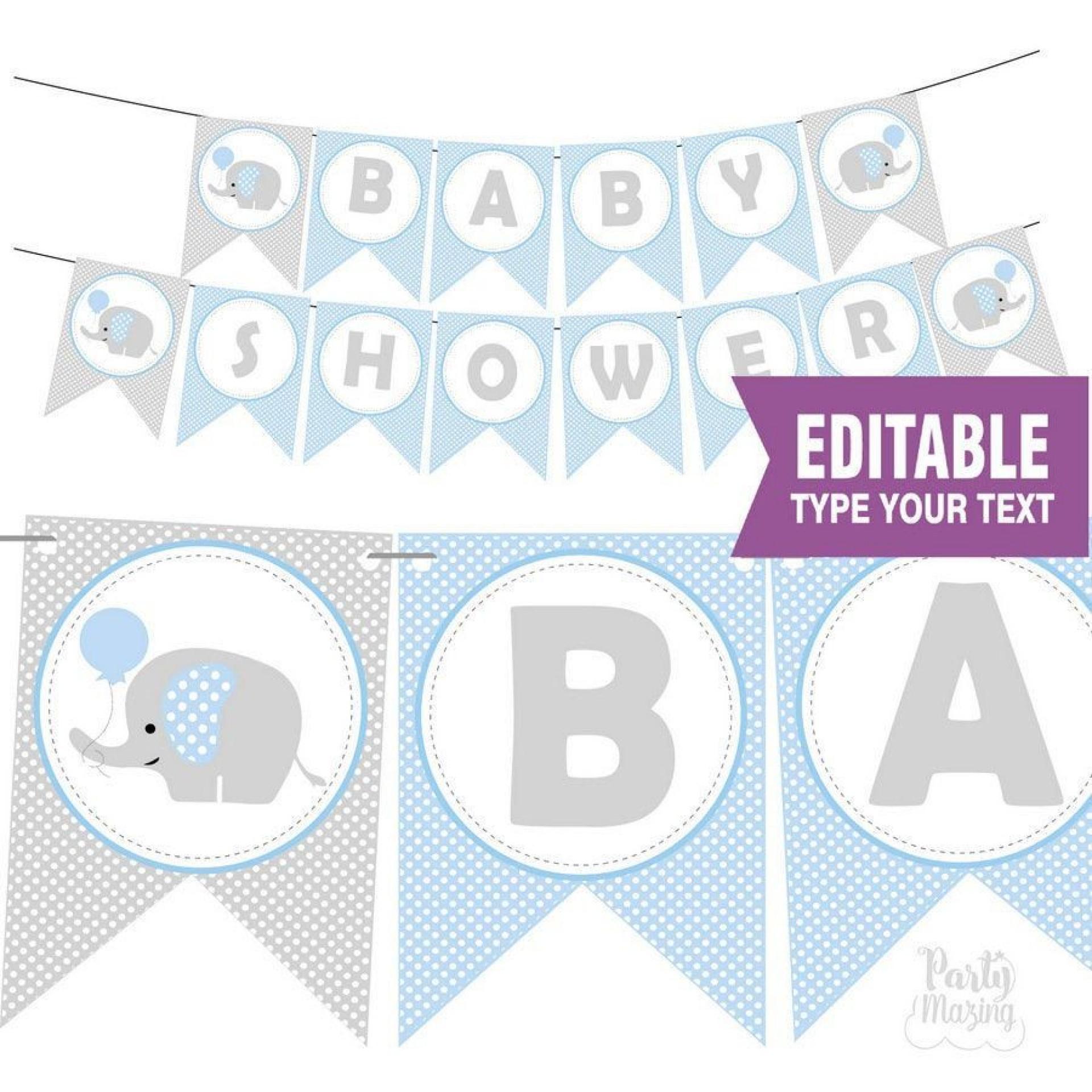 010 Best Free Baby Shower Printable Elephant Highest Quality  Decoration1920